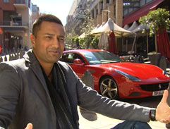 Ashish Gangapersad tests the Ferrari FF