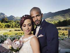 Bianca Le Grange and David Johnson tie the knot