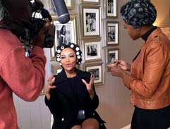 Bonang Matheba talks style and beauty secrets at home