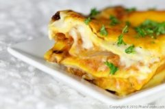 Butternut and Cheese Lasagne.