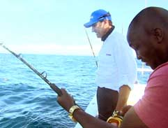 Deep sea fishing with Justin Kemp
