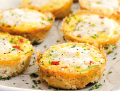 Egg and tomato muffin recipe