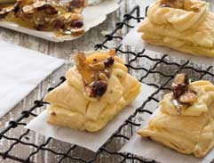 Hazelnut praline custard slices