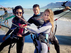 Jeannie D goes kiteboarding with Michelle Sky Smith