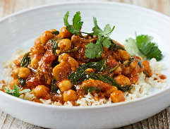 Lamb & chickpea curry: