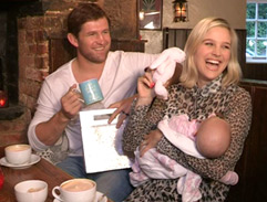 Minki van der Westhuizen and her new family