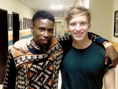Musical superstars George Ezra and Bongeziwe Mabandla