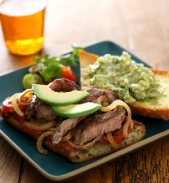 Open-Faced Steak Sandwich