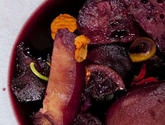 Spiced Poached Autumn Fruit