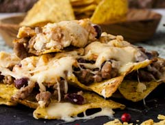 Spicy Mexican Bean Nachos
