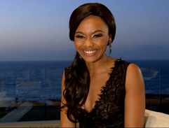 Top Billing presenter Bonang beaming in Gavin Rajah