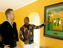 Top Billing visits the house of soccer star Bernard Parker