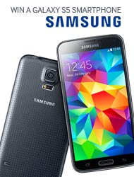 WIN A GALAXY S5 SMARTPHONE