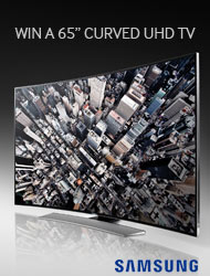 WIN A SAMSUNG CURVED TV