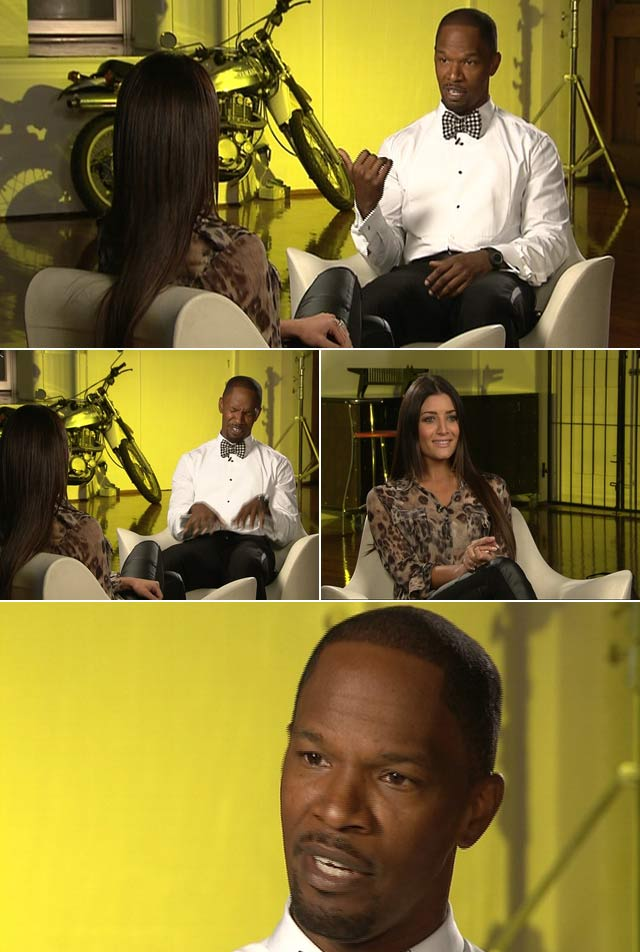 Jeannie D chats to Jamie Foxx in Cape Town