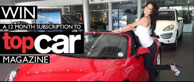 Win a 12 month subscription for Topcar magazine