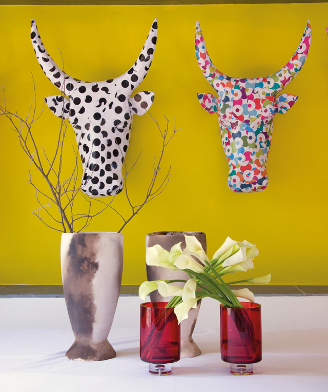 Nguni heads from Ariel Design Studio 078-450-9616.