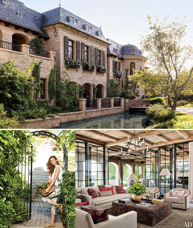 Gisele home on los Angeles