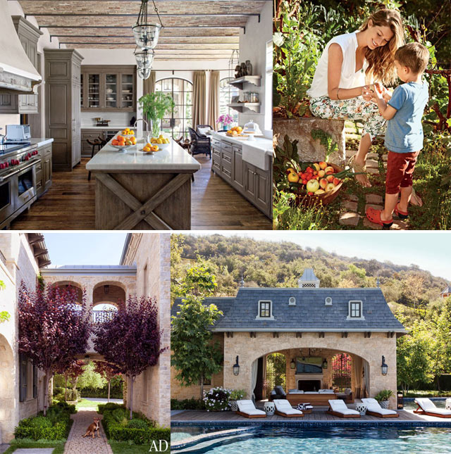 The Los Angeles home of Gisele Bundchen and Tom Brady