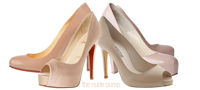 Top Billing Fashion Editor Alexis Chaffe tip for wearing nude pumps