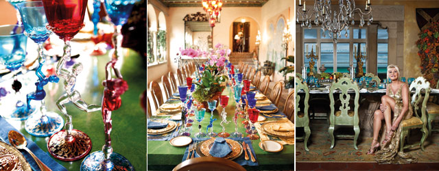 Ivana Trump's Miami home on Top Billing - table setting