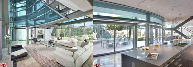 Justin Bieber glass house Beverly Hills