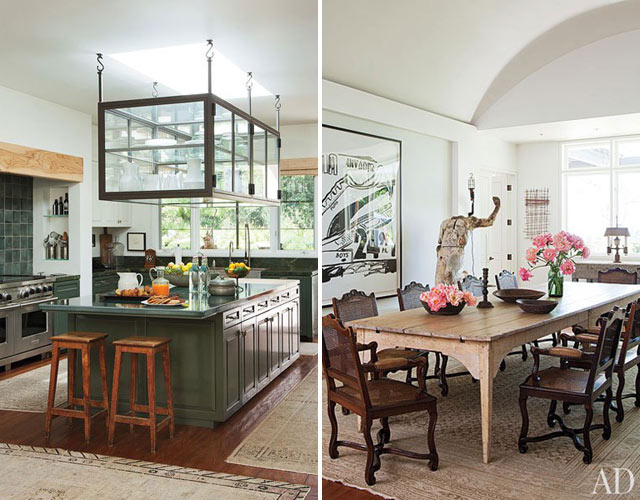 The kitchen in the home of Ellen DeGeneres and Portia de Rossi