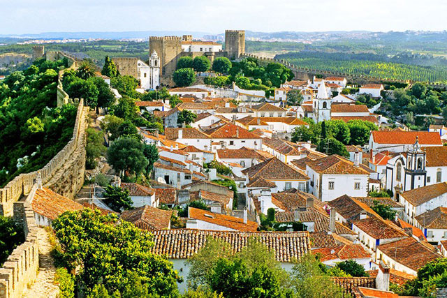 obidos walled city