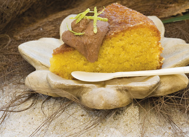 Top Billing recipe for lime polenta cake