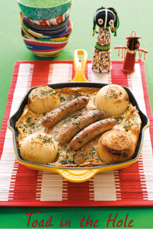 Toad in the hole with onions