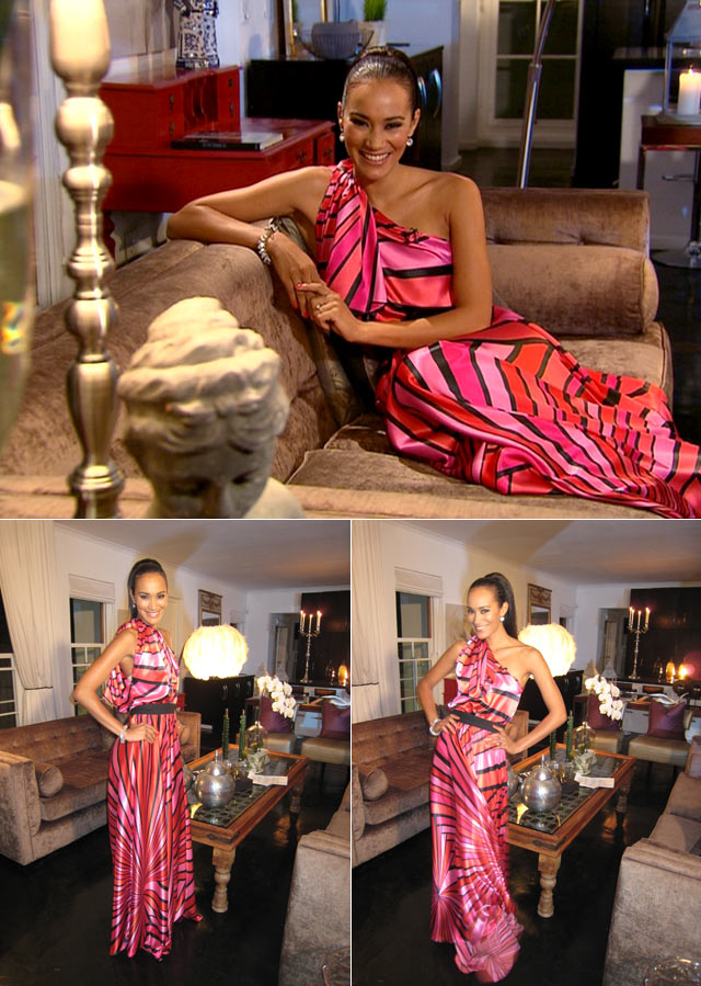 Top Billing presenter Jo-Ann pink dress