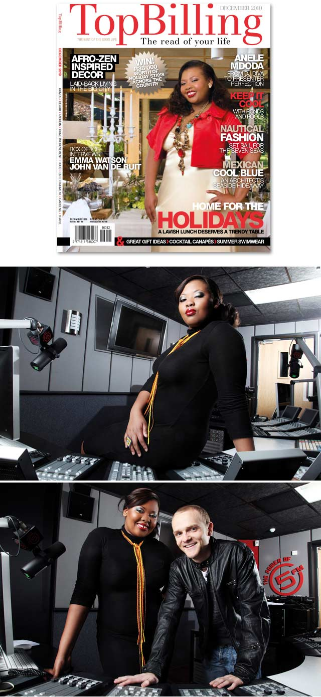 Top Billing goes behind the scenes of Anele's Top Billing Magazine cover shoot