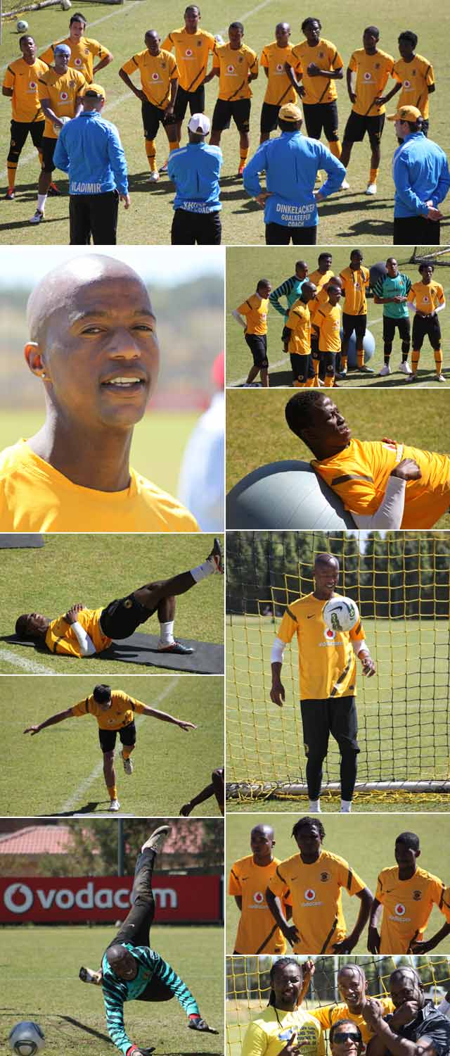 Intern photographer, Sharon Botes photographed the Kaizer Chiefs at practice
