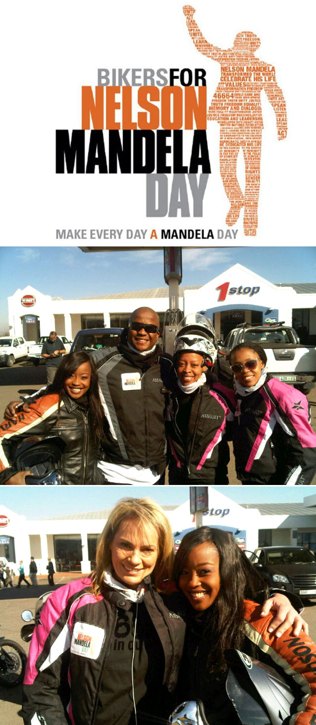 Top Billing joins the Bikers for Mandela Day