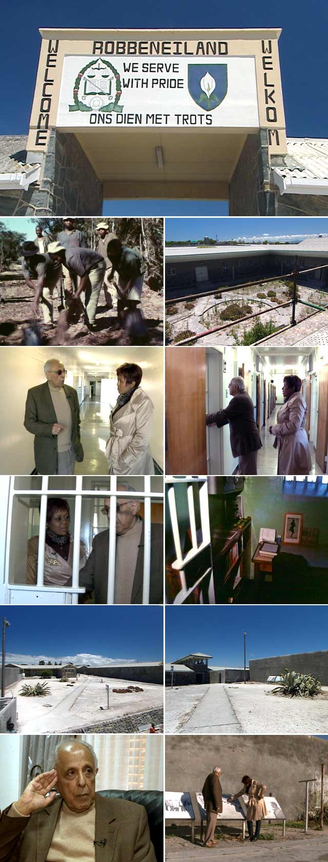 Ahmed Mohamed Kathrada give Top Billing a tour of Robben Island