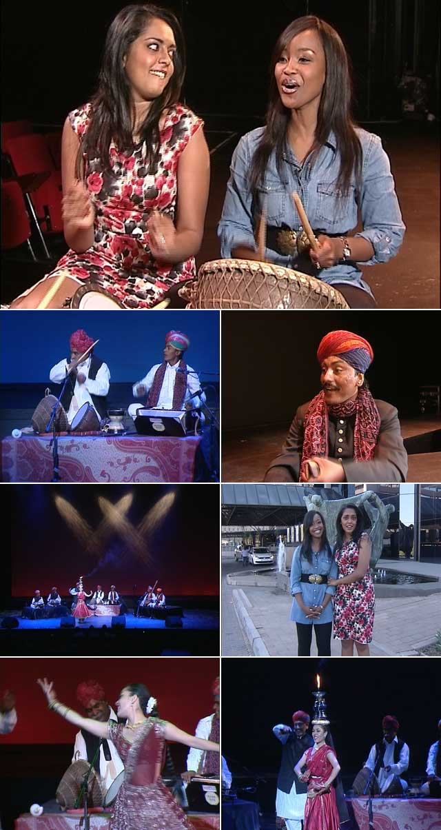Dhiveja and Lorna experience traditional Indian culture at Arts Alive