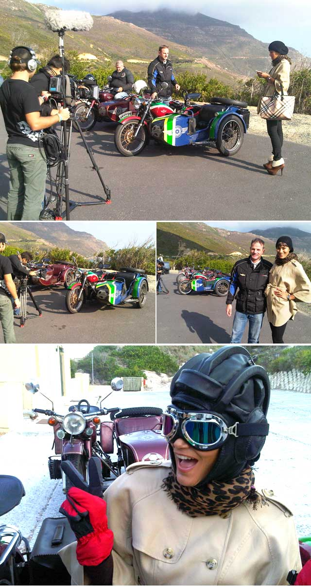 Top Billing Presenter Jo-Ann Strauss goes on a sidecar adventure