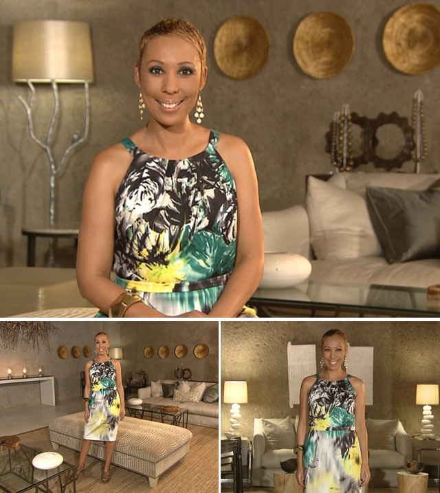Top Billing presenter Ursula's dress