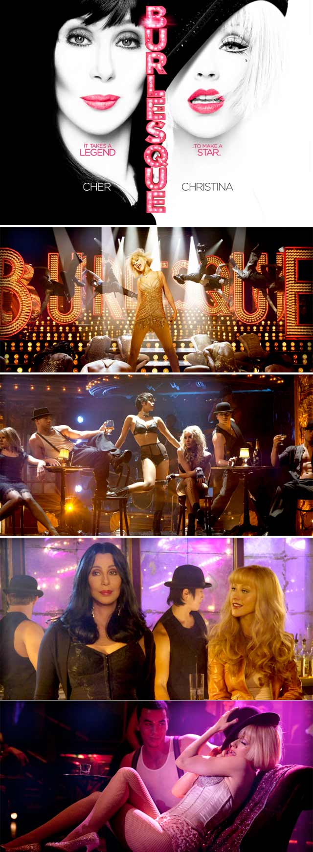 Top Billing discusses the latest release Burlesque, with Cher and Christina Aguilera