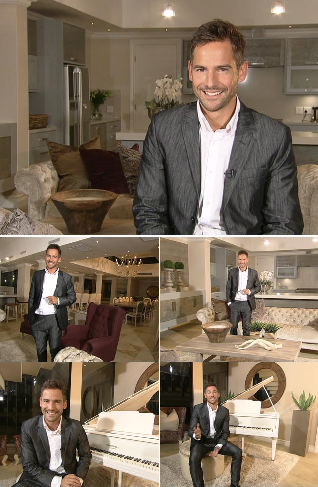 Top Billing Presenter Janez Vermeiren wears a Ruald Rheeder suit