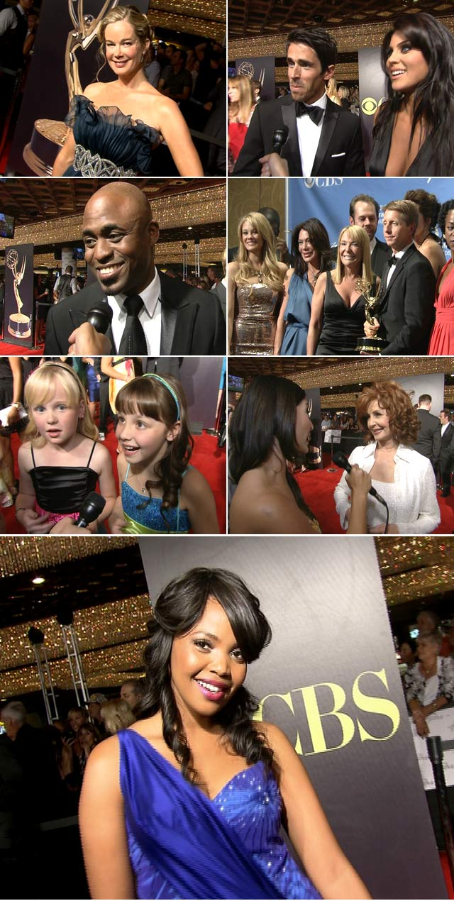 Top Billing presenter Jeannie D interviews the stars at the 38th Daytime Emmy Awards