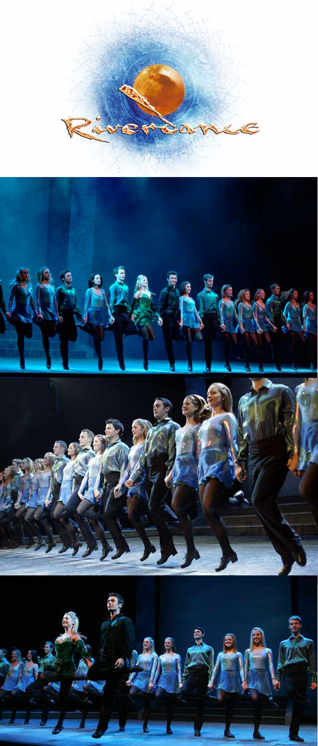Top Billing meets the dancers of Riverdance