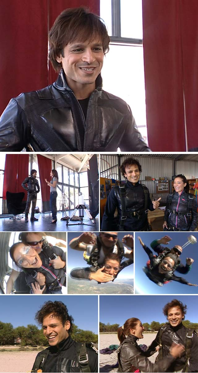 Top Billing goes skydiving with Bollywood Star Vivek Oberoi