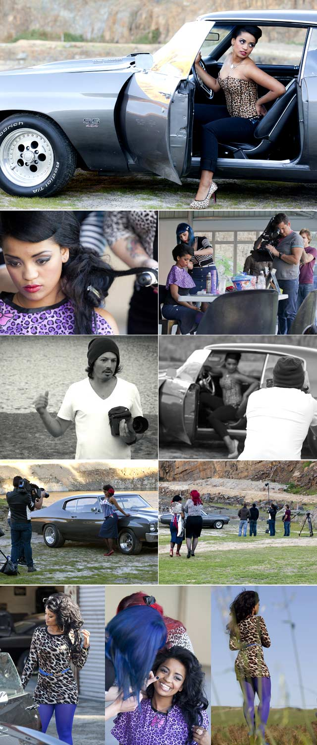 Jeannie D and DJ TK drive muscle cars for Top Billing