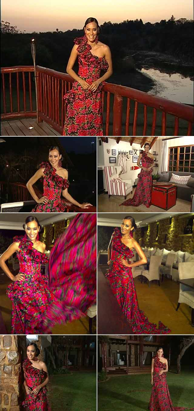 Jo-Ann wears a stunning dress by Spero Villioti