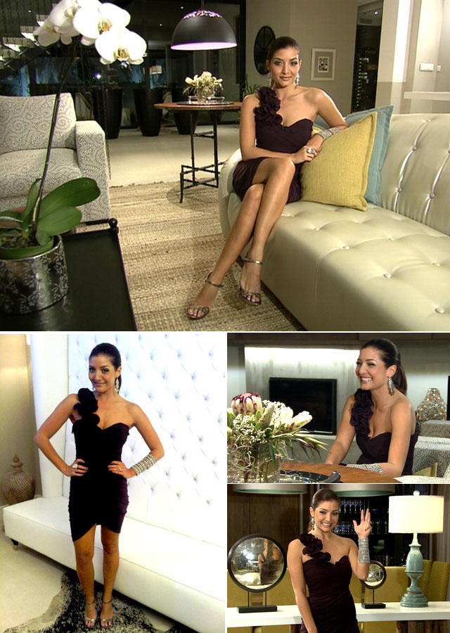 Jeannie D is wearing a stunning black dress by Lipsy