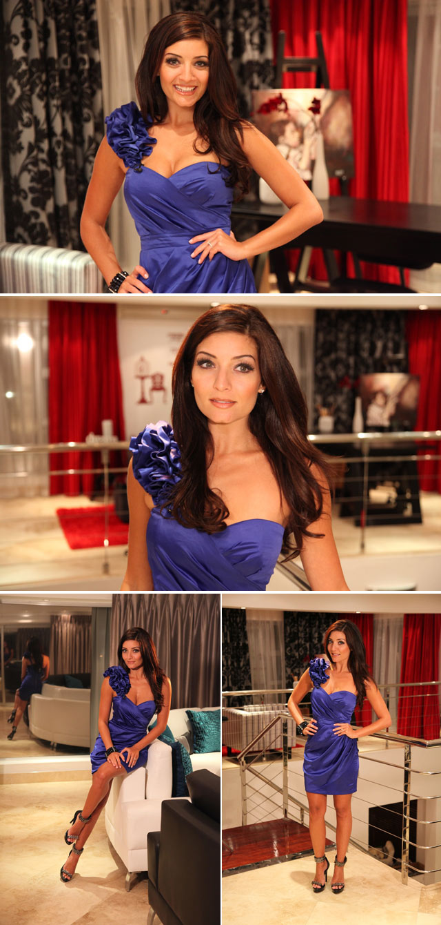 Jeannie D wearing blue Blue Bay dress