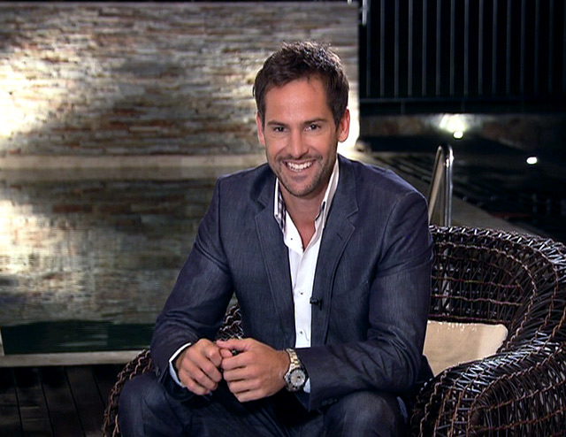 Janez Vermeiren on Top Billing wearing grey suit