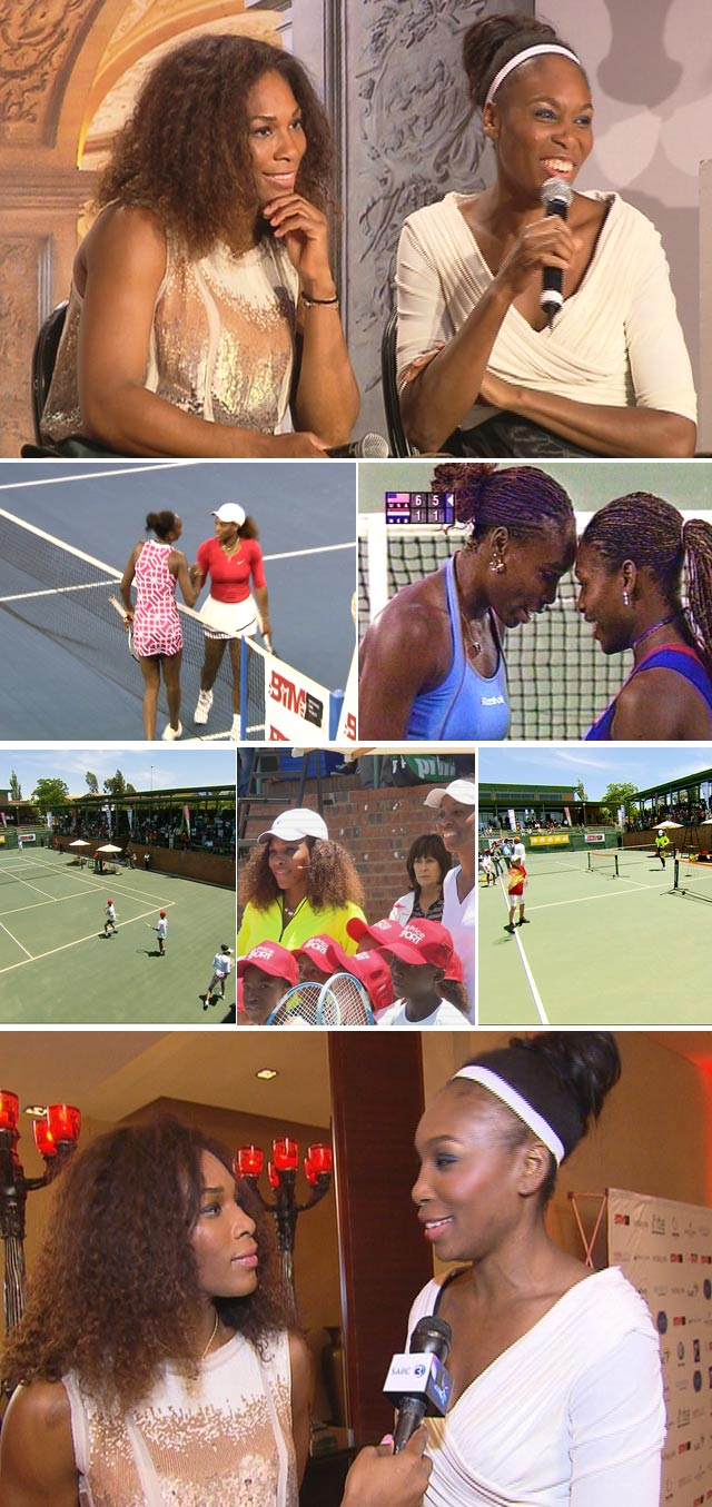 Venus and Serena Williams in South Africa