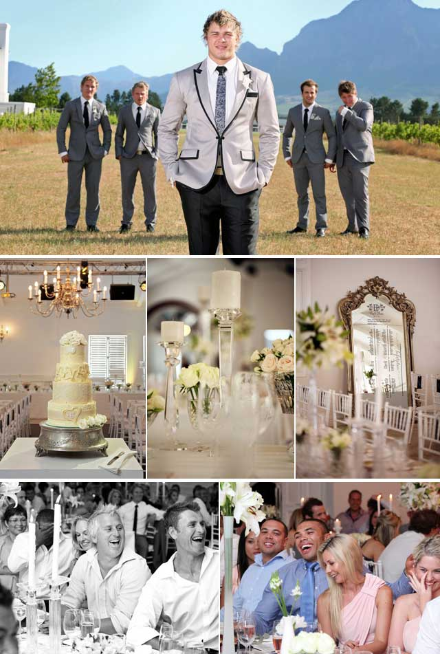 Top Billing attends the wedding of Springbok Duane Vermeulen
